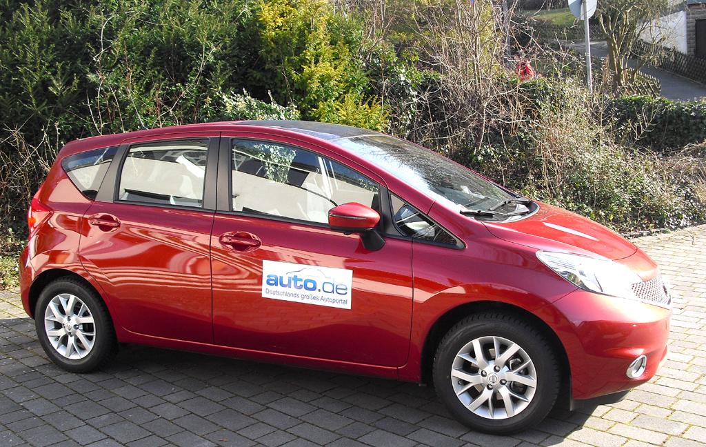 Nissan Note: So sieht das Kompaktmodell von der Seite aus.