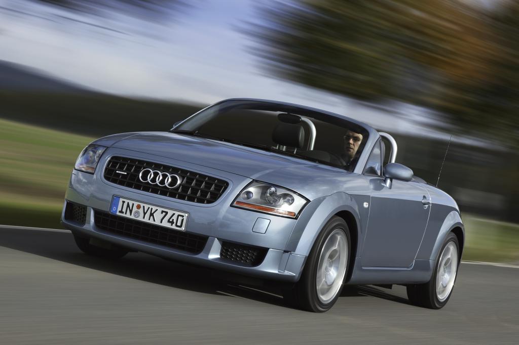 Noch heute sind die Formen der bis 2006 gebauten ersten Generation des Audi TT zeitlos schön - Foto: Audi