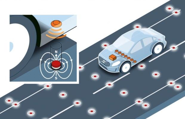 Positionsbestimmung für autonome Autos - Per Magnet geführt