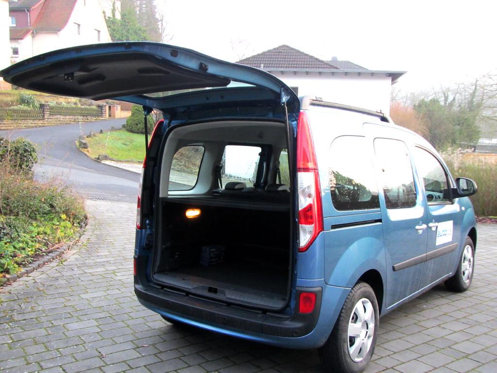 Renault Kangoo: Das Gepäckabteil kann bemerkenswerte 660 bis 2600 Liter fassen.
