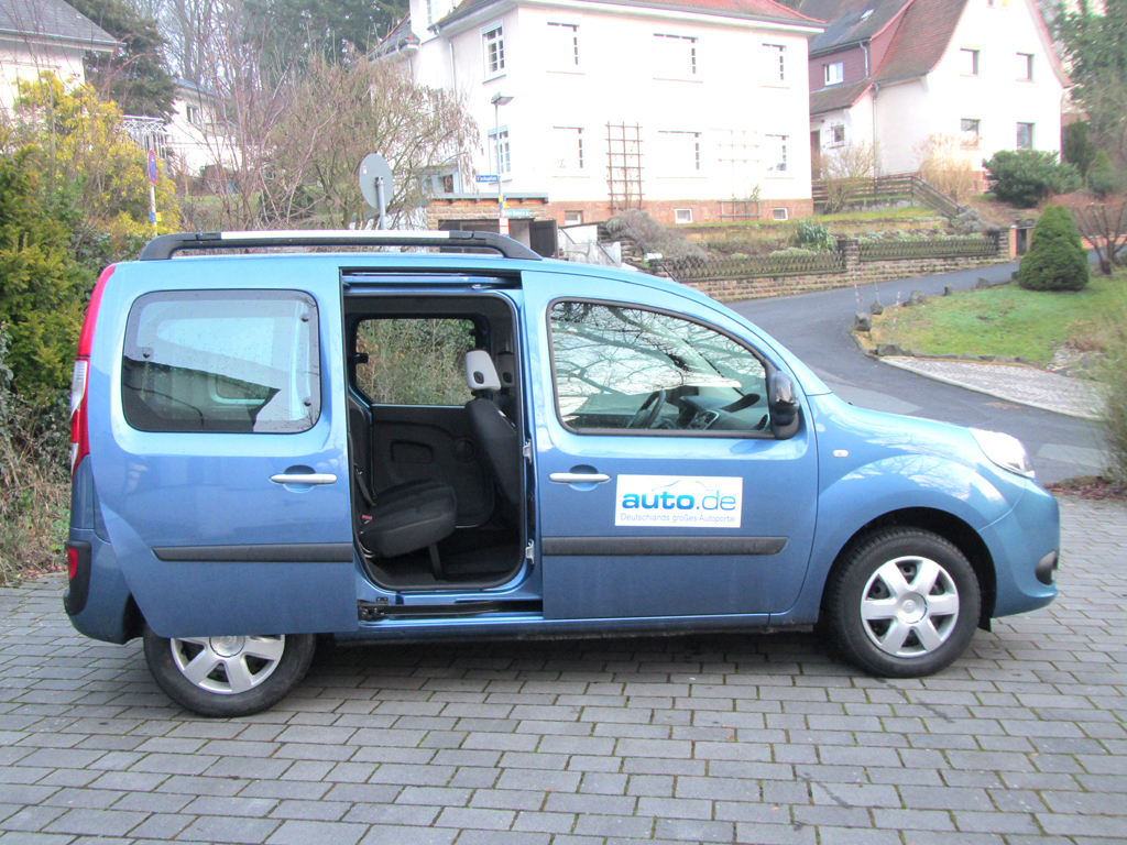 Renault Kangoo: So sieht der kastenförmige Wagen von der Seite aus.