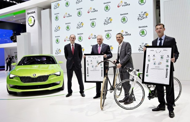 Skoda bis 2018 Partner der Tour de France