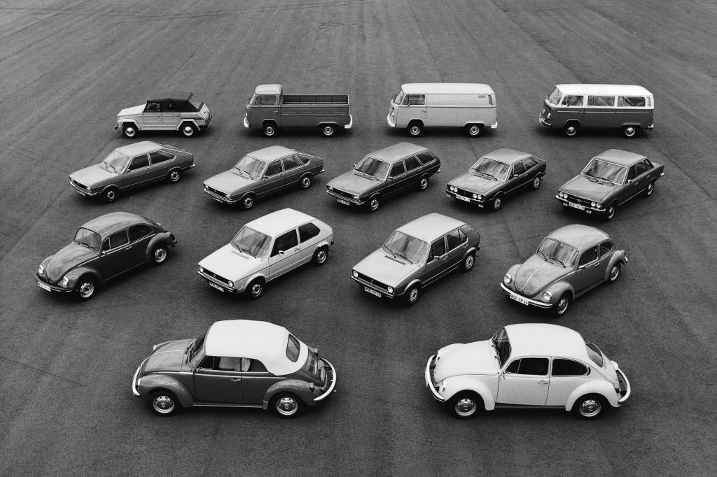 Volkswagen Modellprogramm 1975