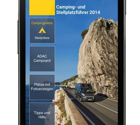 App-Version des ADAC Camping- und Stellplatzführer 2014 verfügbar
