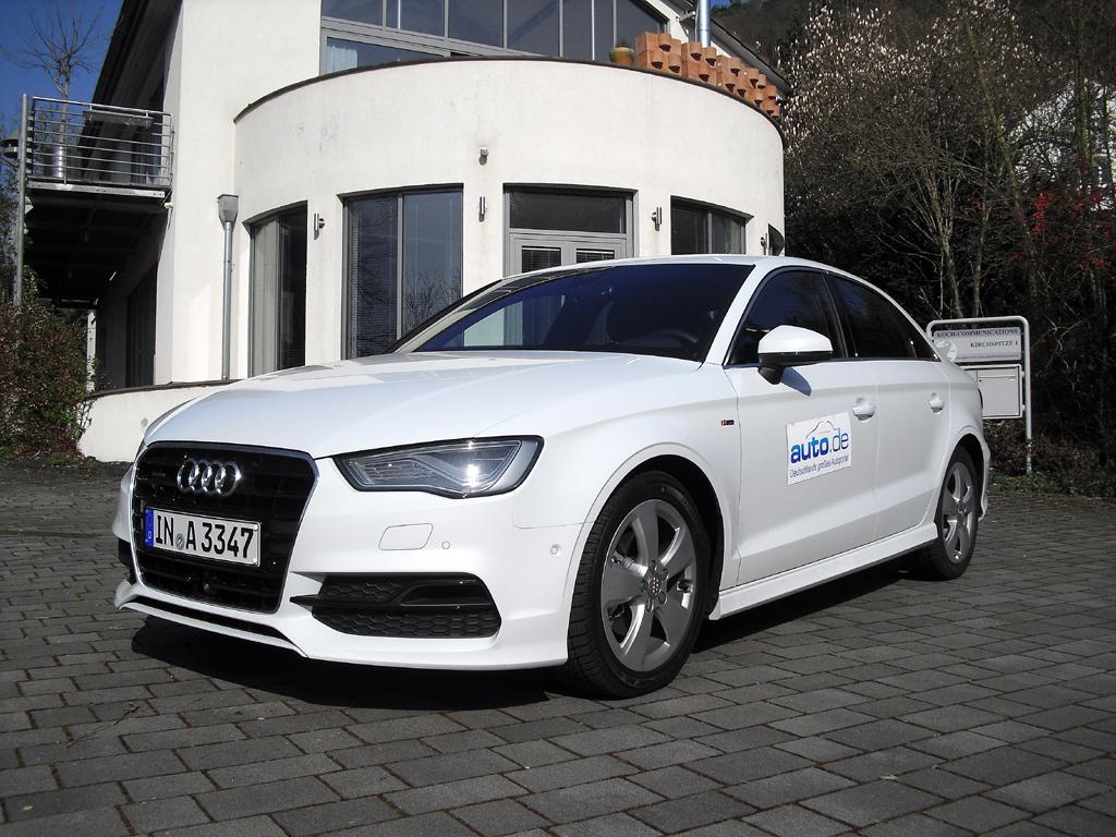 Audi A3, hier als Diesel-Stufenheck-Limousine mit 110/150 kW/PS und S-Line-Exterieur.