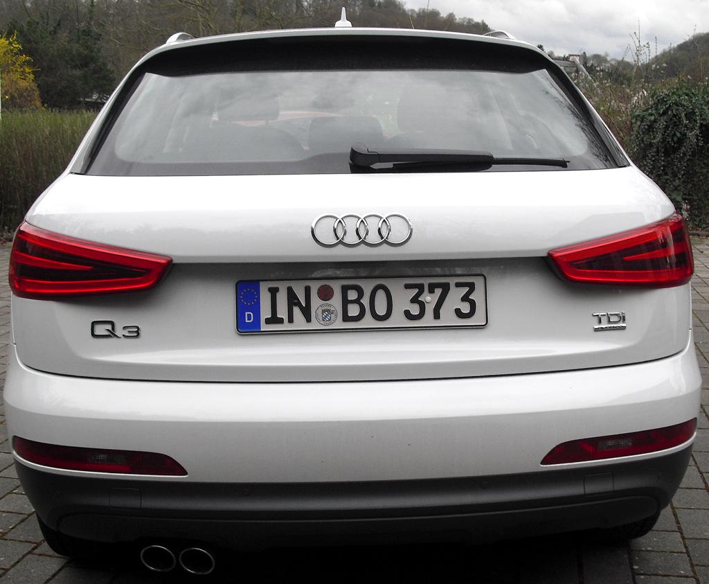 Audi Q3: Blick auf die Heckpartie.