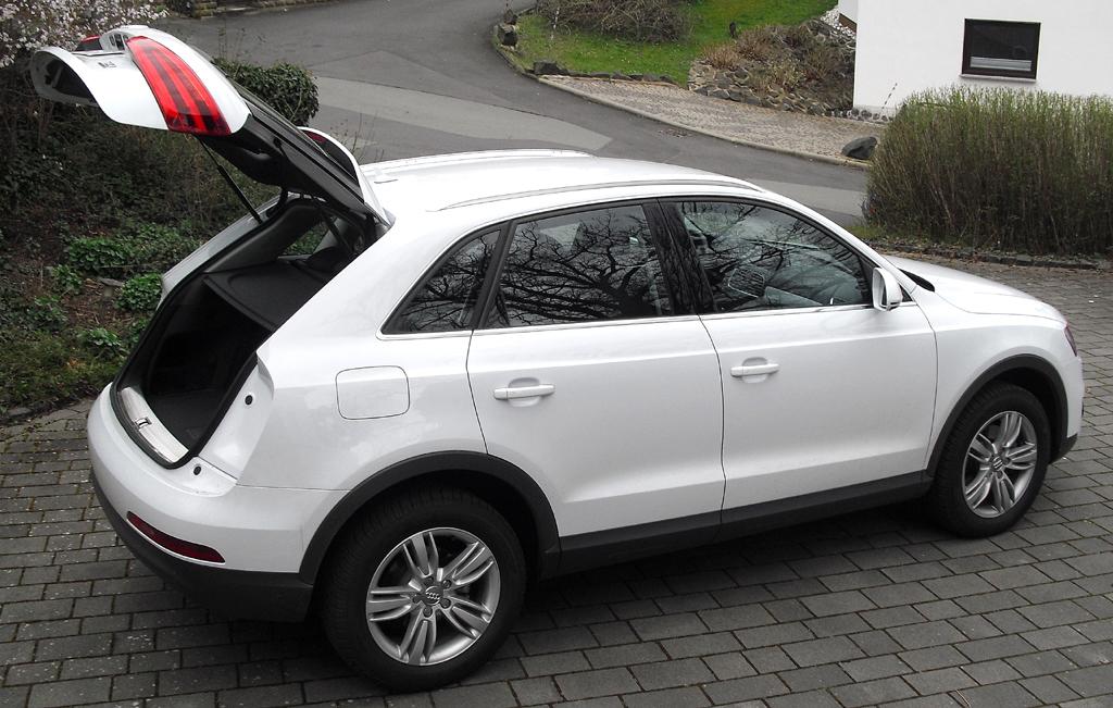 Audi Q3: Das Gepäckabteil fasst 460 bis 1370 Liter.