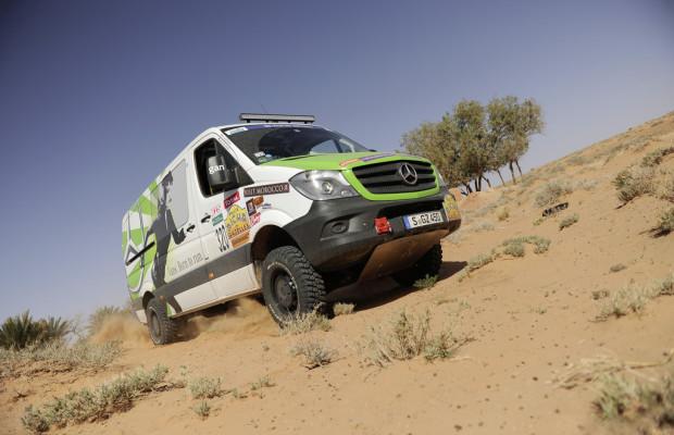 Damen-Team gewinnt Wüstenrallye im Sprinter