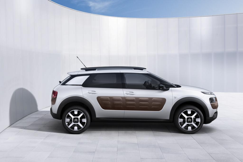 Der Citroën Cactus, einer der Stars des Genfer Automobilsalons, glänzt durch seine frischen Farben und pfiffigen Ideen