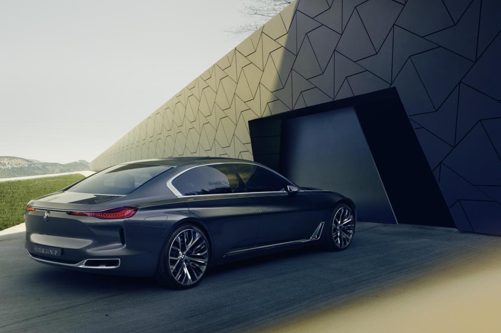 Der bildschöne BMW Vision Future Luxury, der einen Ausblick auf die 2016 kommende 9er-Reihe erlaubt.