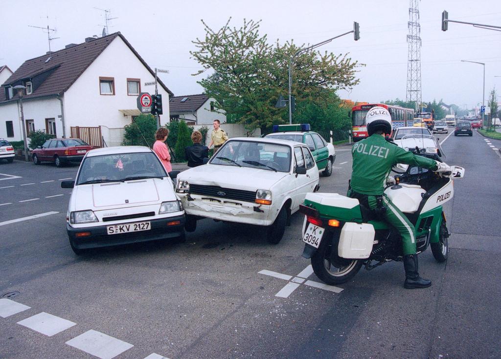 Die meisten Unfälle passieren in der Stadt