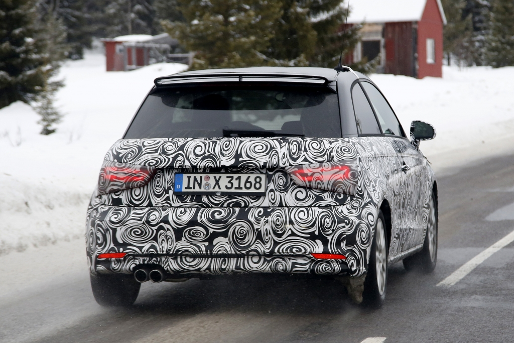 Erwischt: Erlkönig Audi A1 Facelift