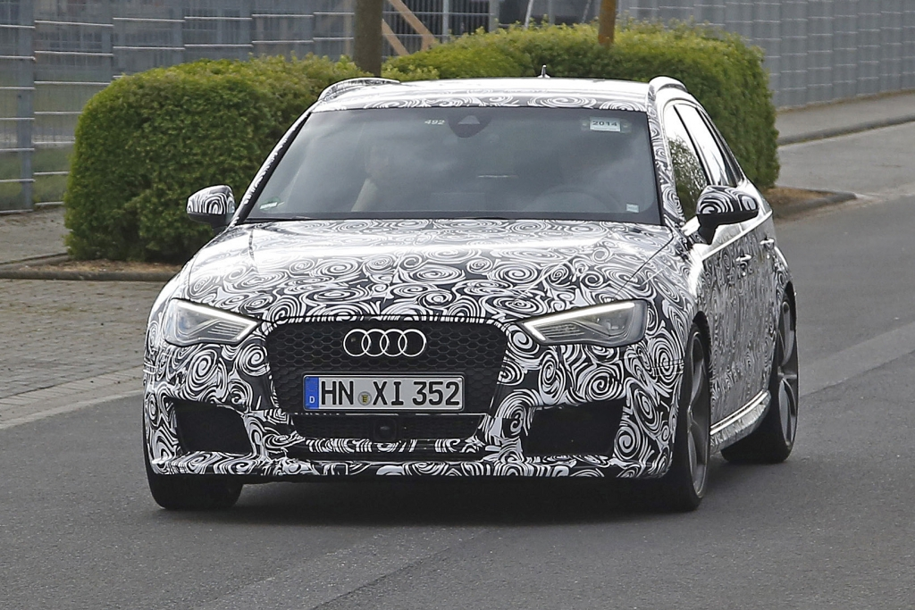 Erwischt: Erlkönig Audi RS3 - Attacke mit 100 PS pro Zylinder