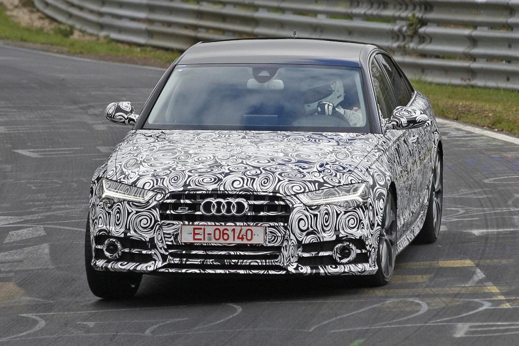 Erwischt: Erlkönig Audi S6 Facelift (2015)