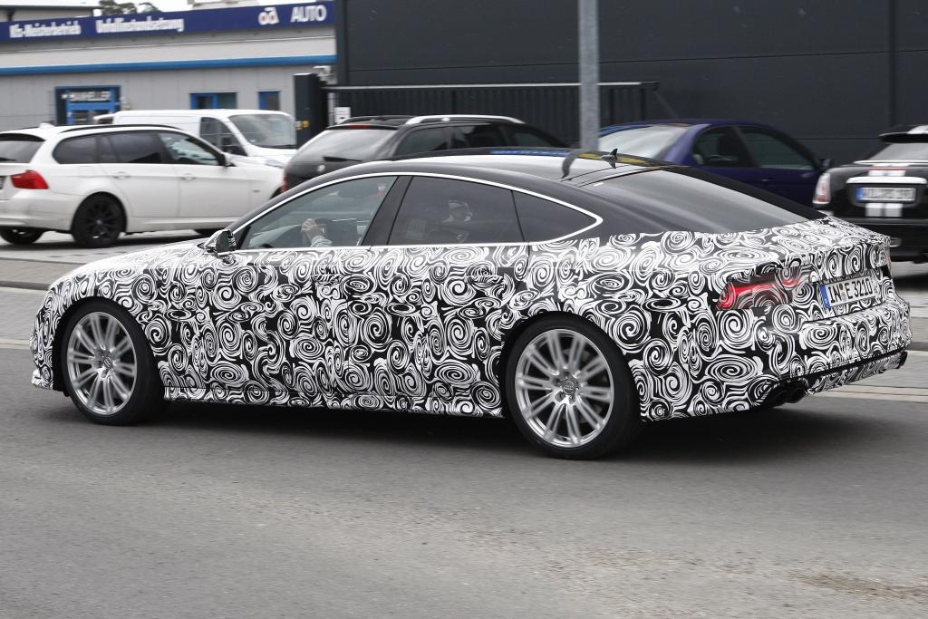 Erwischt: Erlkönig Audi S7 Facelift (2015)