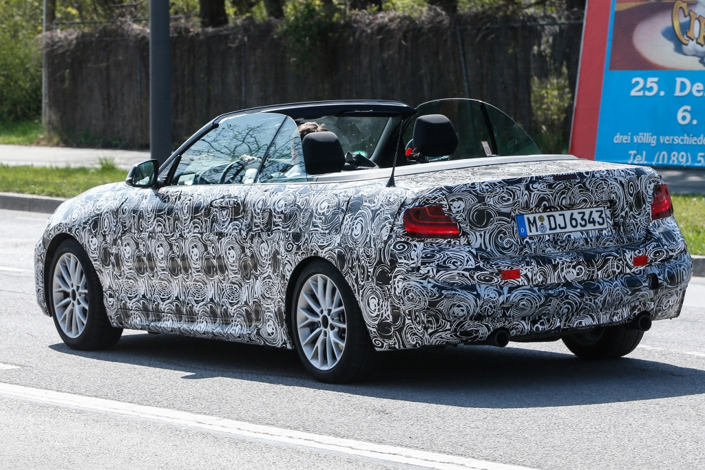 Erwischt: Erlkönig BMW 2er Cabrio - Oben offen