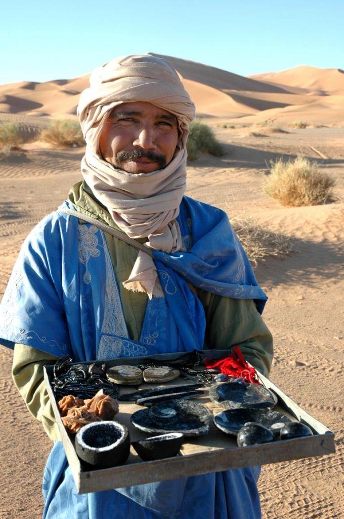 Händler in der Wüste.