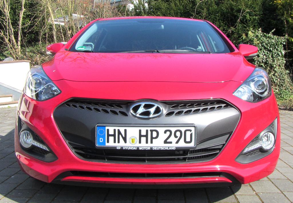 Hyundai i30 Coupé: Blick auf die Frontpartie.