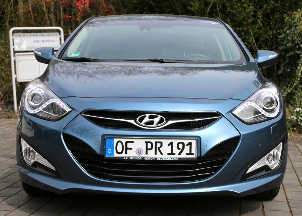 Hyundai i40: Blick auf die Frontpartie.