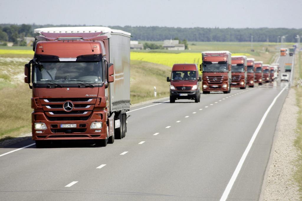 Lkw-Verkehr  - Zu viele Fahrten ohne Ladung
