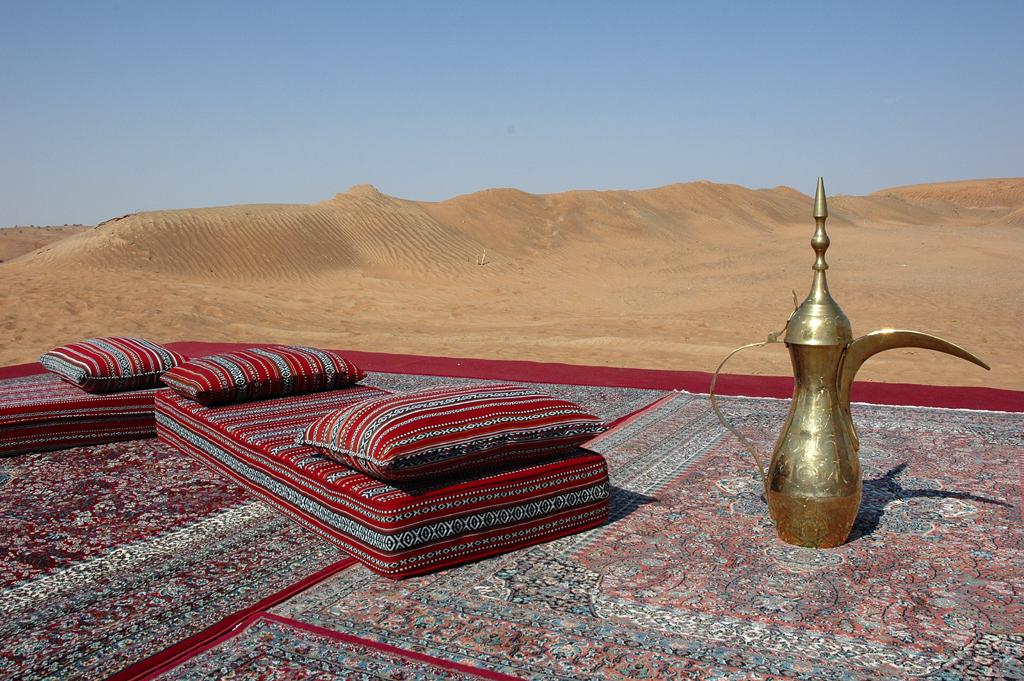 Luxus auf Sand: Camp in Dubais Wüste.