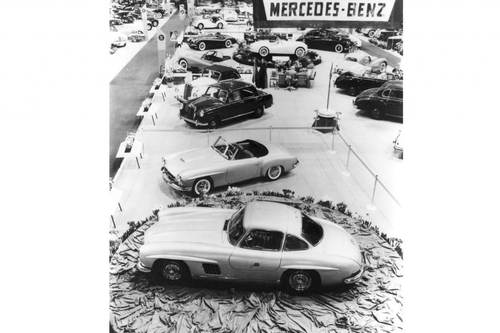 Mercedes 300 SL und 190 SL Weltpremiere New York 1954