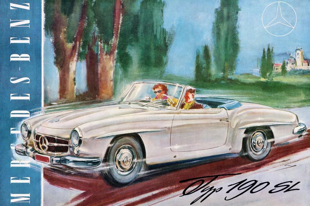 Mercedes Benz 190 SL Werbung 1955