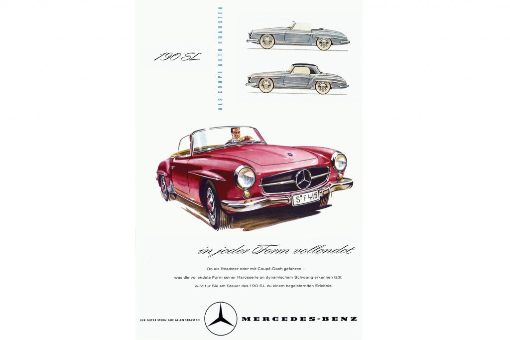 Mercedes Benz 190 SL Werbung 1956