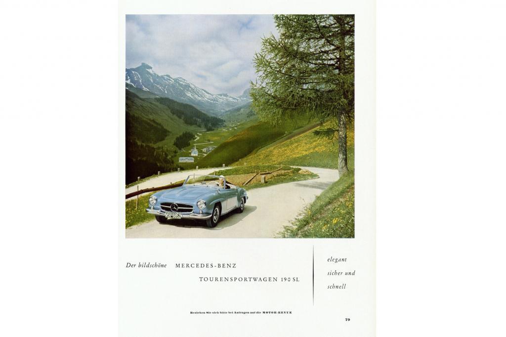 Mercedes Benz 190 SL Werbung ab 1955