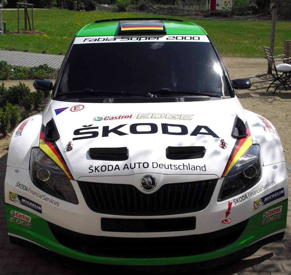 Mit dem Fabia S2000 ist Skoda im internationalen Rallye-Sport unterwegs.