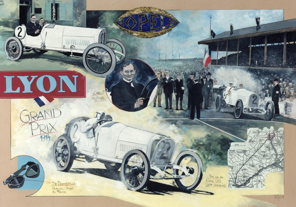 Opel-Renner kehren 100 Jahre später nach Lyon zurück
