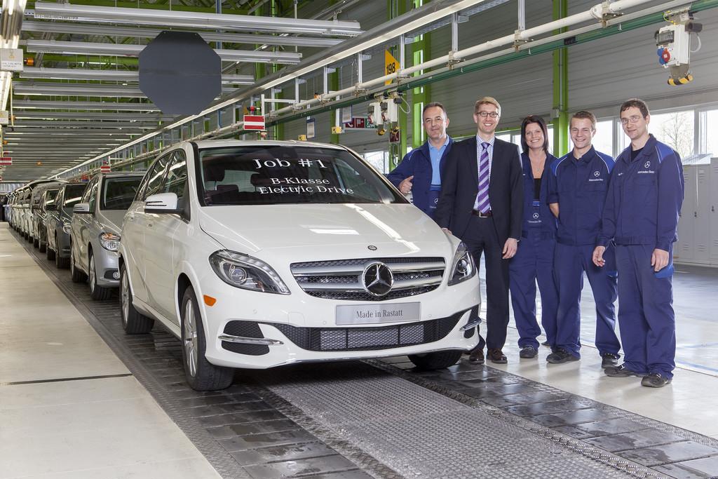 Produktionsstart für Mercedes-Benz B-Klasse Electric Drive in Rastatt
