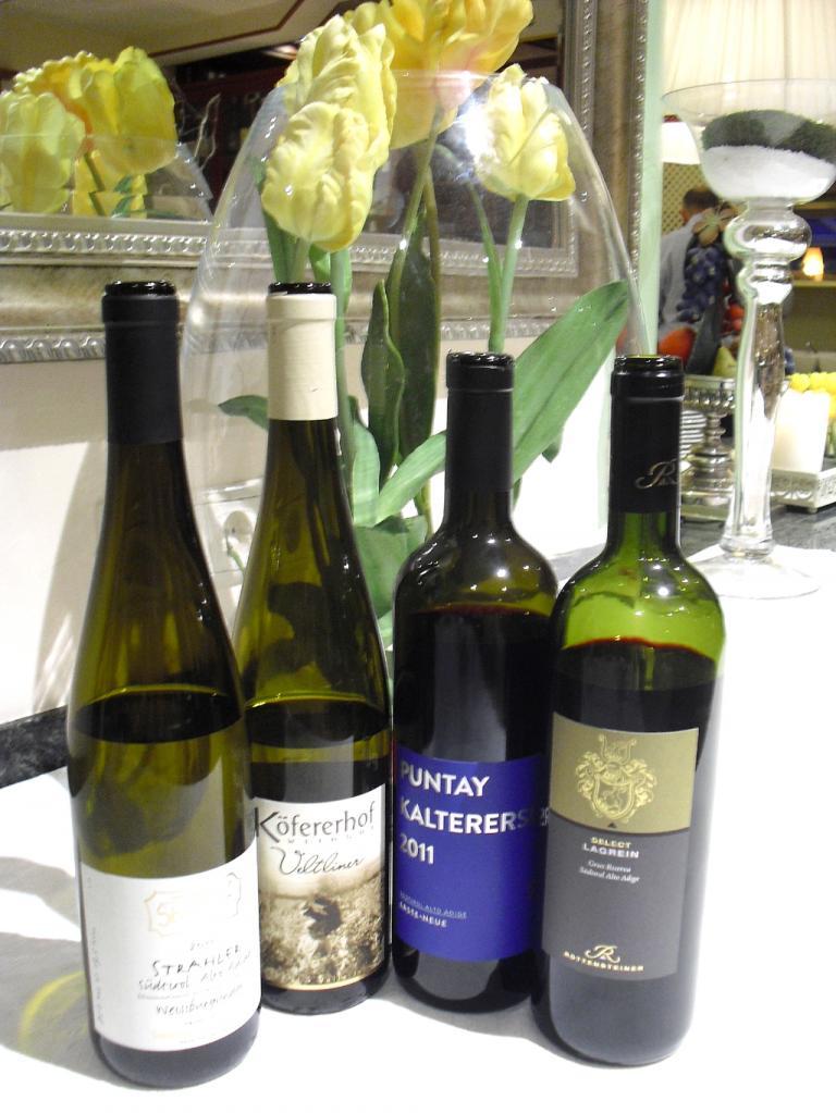 Süffiges Südtiroler (Wein-)Quartett.
