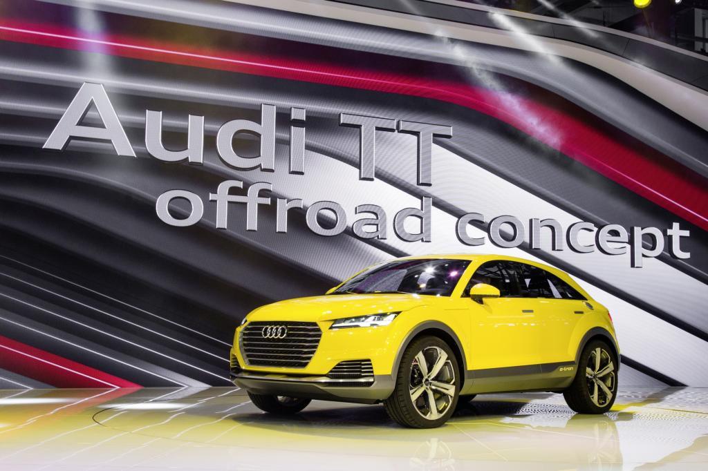 Sie Audi will aus einem Sportcoupé ein SUV zaubern und präsentiert das TT Offroad Concept, das als Plug-in-Hybrid unterwegs sein soll.