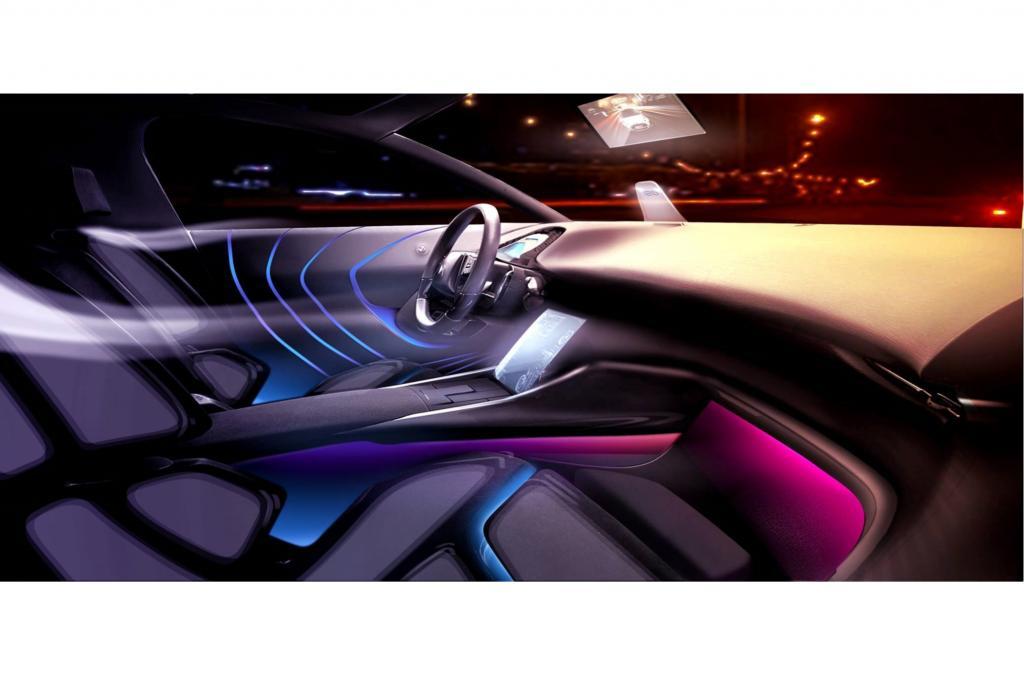 Spezielle Lichtstimmungen für den Innenraum, besondere Materialien für Sitze und Türverkleidungen oder eine Verbesserung der Temperaturkontrolle sind serienreif