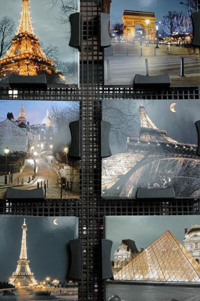 Stadtansichten natürlich mit Eiffelturm, Triumphbogen und Louvre.
