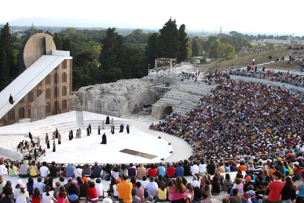Teatro Greco in Siracusa.