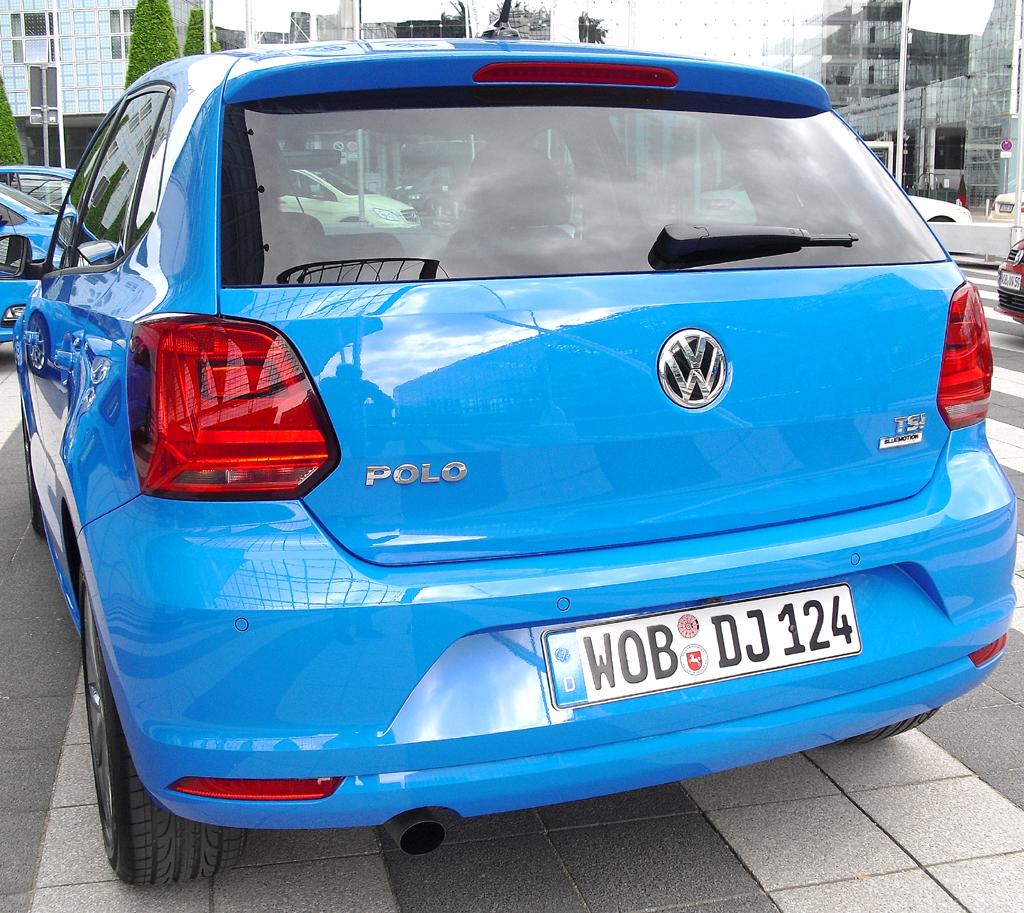 VW Polo: Blick auf die Heckpartie.