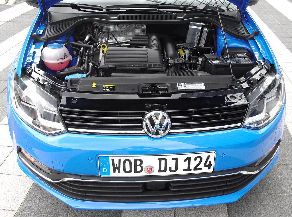 VW Polo: Blick unter die Haube. Vier Benziner und zwei Diesel stehen vorerst zur Wahl.