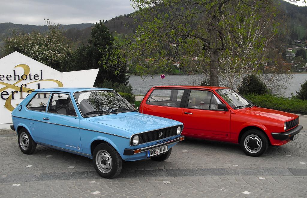 VW Polo: Links Polo L, Baujahr 1977, rechts Polo CL Formel E, Baujahr 1983.