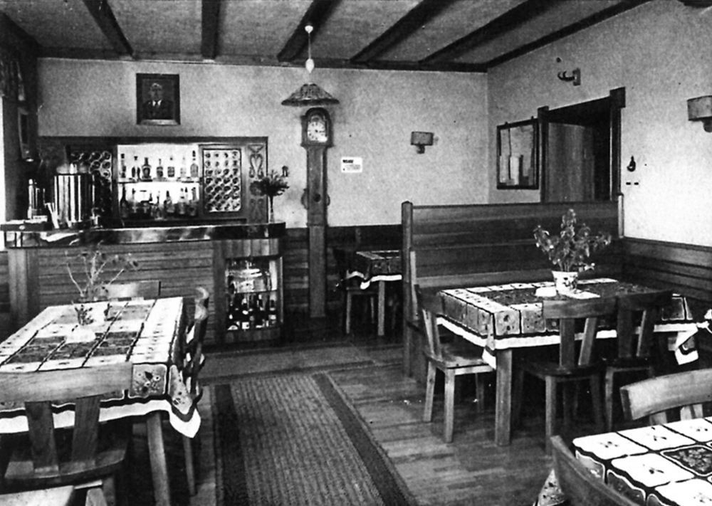 Wie es früher war: Blick in die Gaststube des Gasthauses