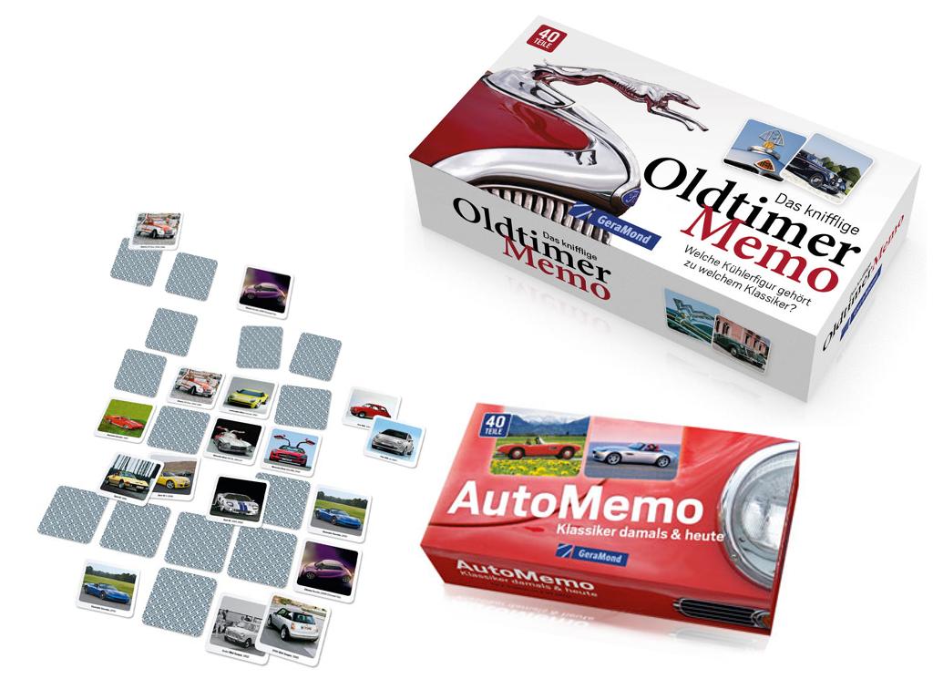 auto.de-Gewinnspiel: Auto-Memo und Oldtimer-Memo - Kniffelige Memory-Spiele
