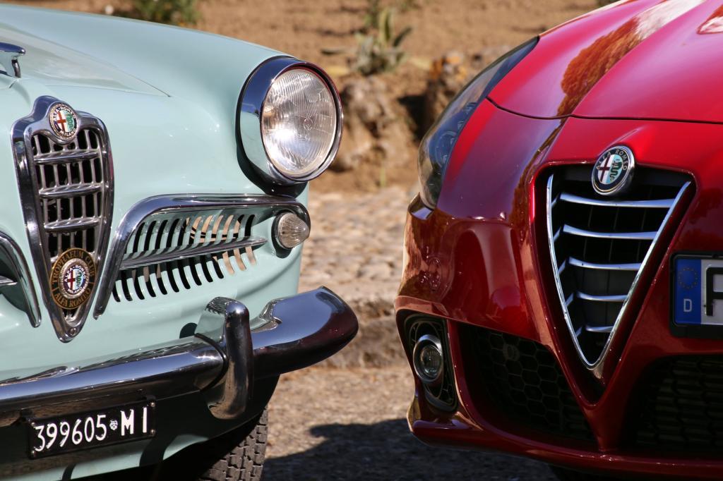 Natürlich steht auch die 1954 eingeführte Ur-Giulietta in diesem Verzeichnis und darf an der exklusiven Ausfahrt teilnehmen.