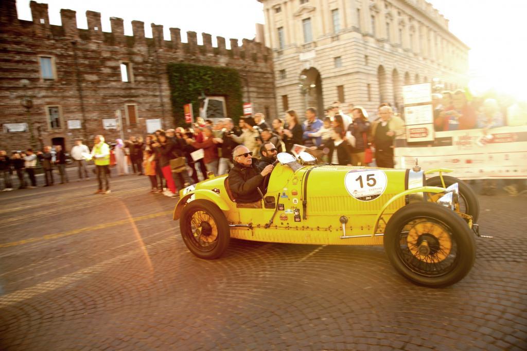 22 Bugattis waren auf der Mille unterwegs, hier ein Typ 35A von 1925