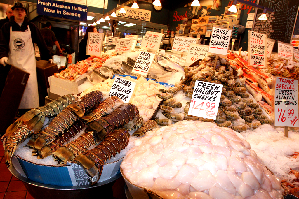 Auf Seattles Pike Place Market.