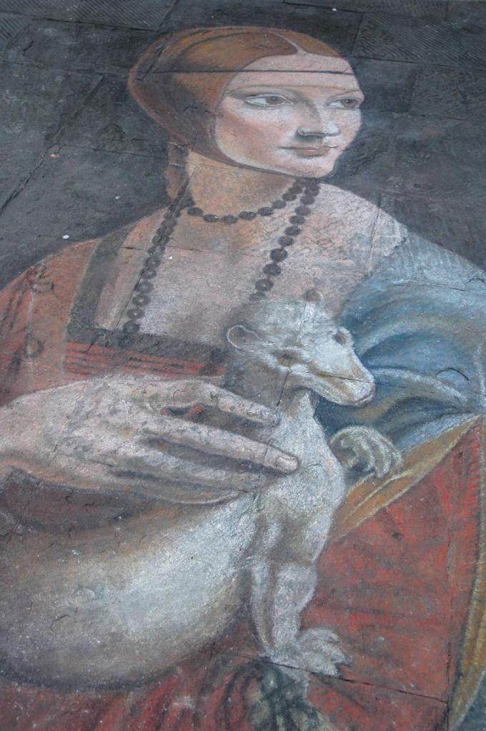 Auf die Straße gemalt, gesehen in Sienas Altstadt.