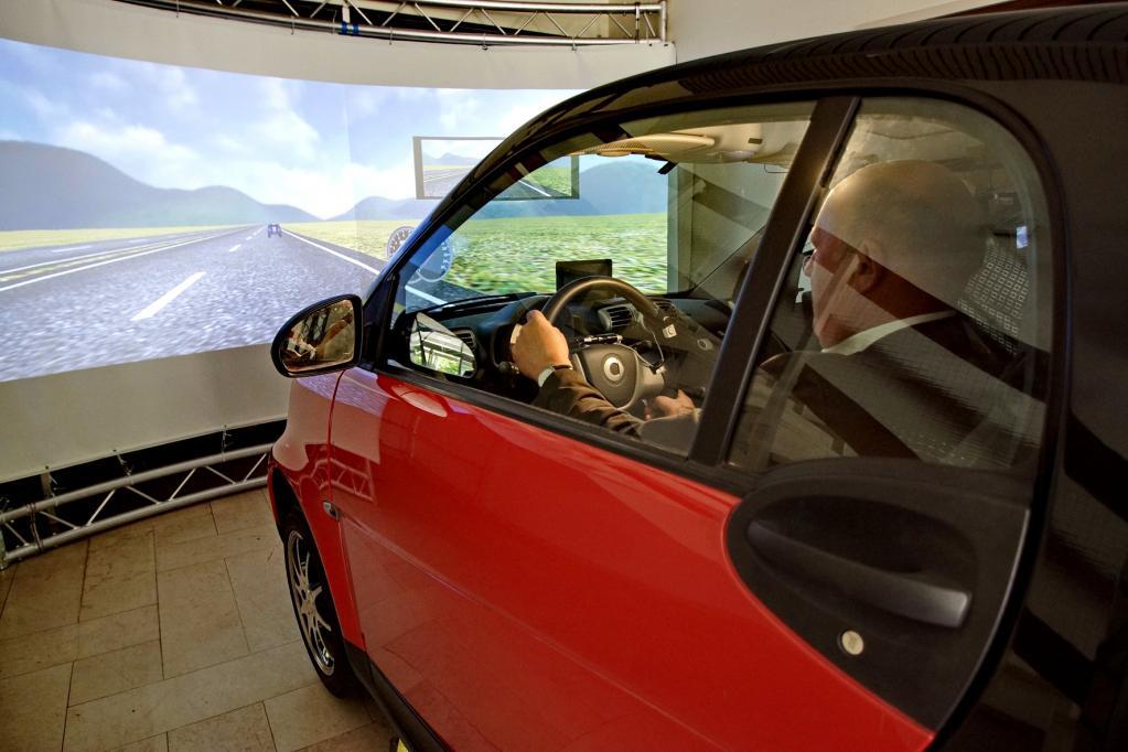 Autofahren: Zum Fitnesstest in den Simulator