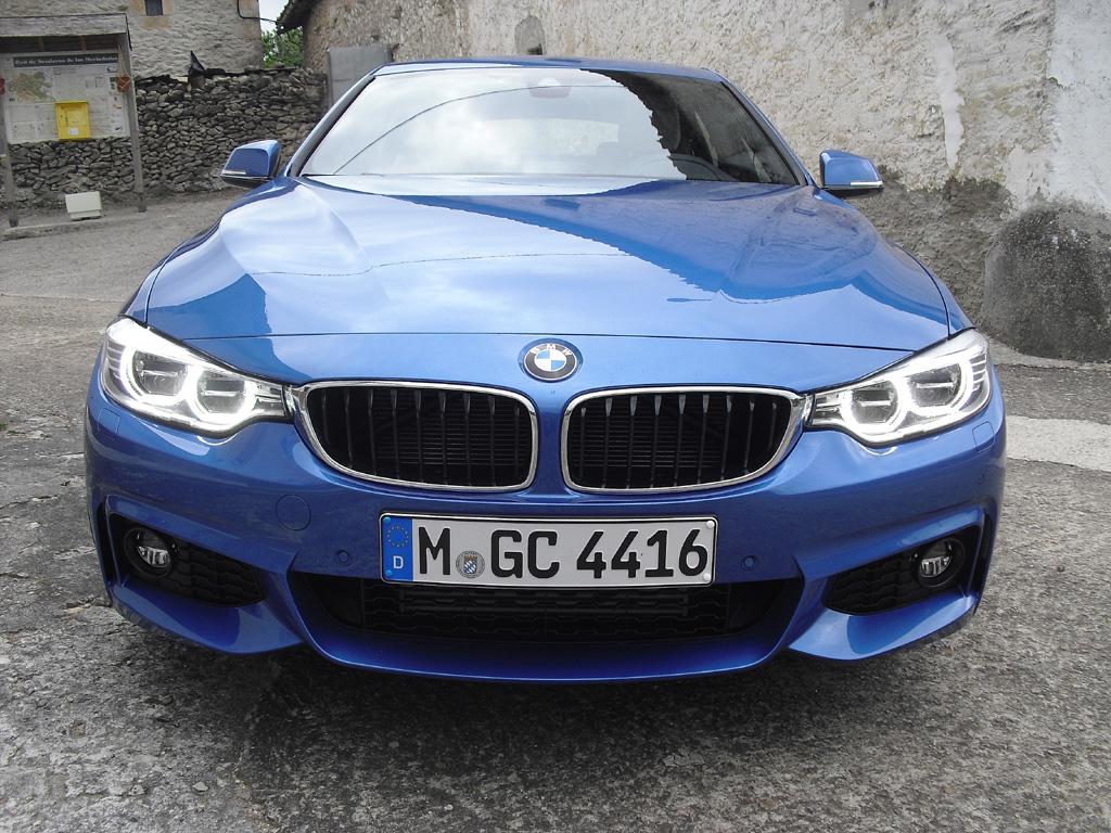 BMW 4er Gran Coupé: Blick auf die Frontpartie.