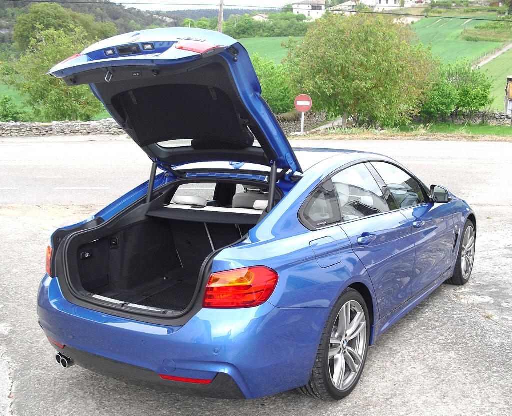 BMW 4er Gran Coupé: Das Gepäckabteil fasst 480 bis 1300 Liter.