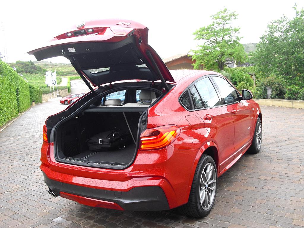 BMW X4: Das Gepäckabteil fasst 500 bis 1400 Liter.